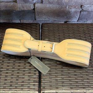 BCBG Maxazria | Taupe Wide Zipper Waist Belt
